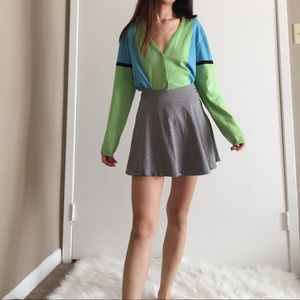 Vintage Escada colorblock knit cardigan.
